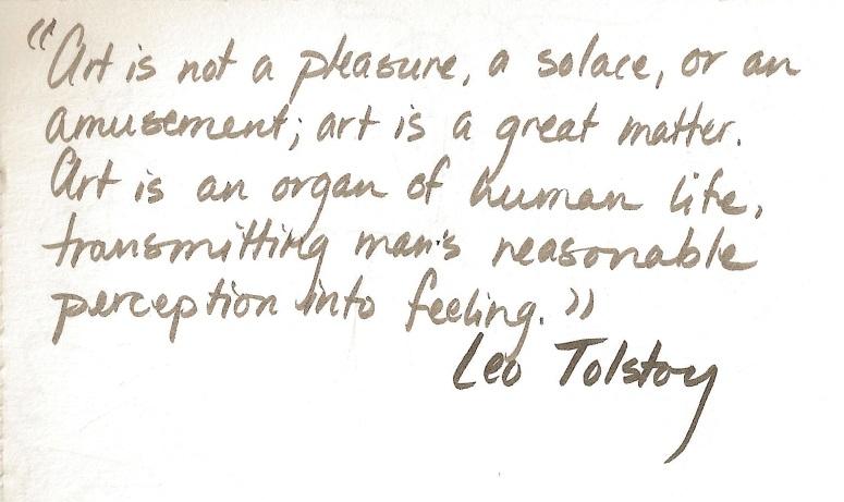 Leo Tolstoy - 'What is Art?'