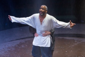 02 KING LEAR (RET) Don Warrington (King Lear) & Milto Yerloemou (The Fool) Photo Jonathan Keenan