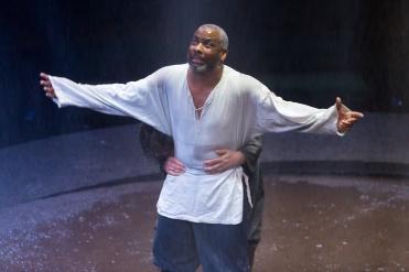 02 KING LEAR (RET) Don Warrington (King Lear) & Milto Yerloemou (The Fool) Photo Jonathan Keenan