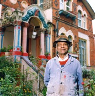 Brenton Pink Outside His House, 62 Loampit Hill 12 Apr 2002