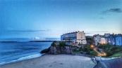 Castle Beach at sunset