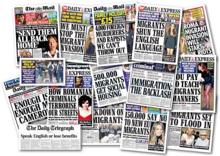 Racist British newspaper headlines