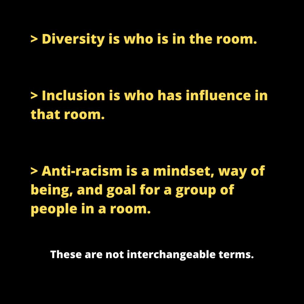 diversity inclusion anti racism
